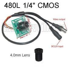 """480TVL CCTV Color Camera Board 1/4"""" Inch CMOS + 4.0mm  Lens"""