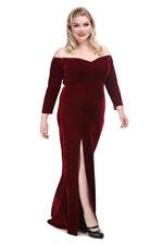 Collectif Mainline Anjelica Velvet Maxi Dress