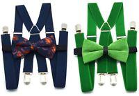 AU Adult Men Women Party Pants Braces Suspender Clip Belt Bowtie bow tie Set