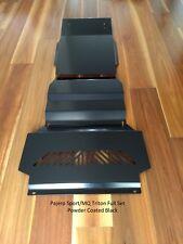 Pajero Sport Intercooler, Sump & Transmission Guards/Bash Plates - Black