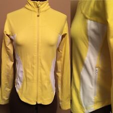 Lululemon Size 6 Yellow White Full Zip Shape Forme Run Luon Jacket Women