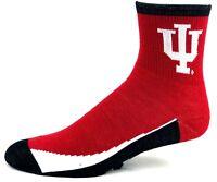 Indiana Hooisers NCAA Non-Skid Quarter Socks
