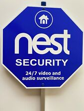 nest security yard sign aluminum pole 30""