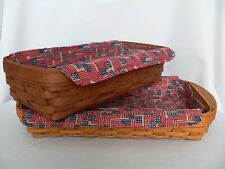 Longaberger Small Serving Tray or Bread Liner Only - Old Glory Flag Print - New