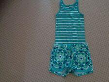 Gap Turquoise Shorts   Striped Tank Top   6-7