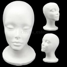 "1PCS 11"" Female STYROFOAM FOAM MANNEQUIN MANIKIN head wig display hat glasses"
