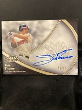 2020 TOPPS TIER ONE JIM THOME AUTO CARD #'d 52/65🔥HOF
