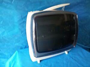 Raro TV portatile Design CGE TP233B Televisore B/N Vintage d'epoca FUNZIONANTE