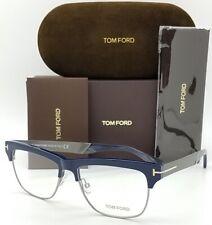Tom Ford Tf5371 090 Blue / Grey Square Full Rim Men Optical Frames Eyeglasses