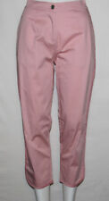 NEW Portfolio by John Bartlett Sateen Crop Pants w/ Contrast Piping PINK size 8