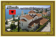 ALBANIA - SOUVENIR NOVELTY FRIDGE MAGNET - FLAGS / SIGHTS - BRAND NEW - GIFT