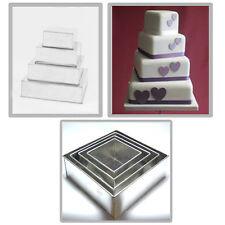 "SET OF 4-PIECE SQUARE SHAPE CAKE BAKING PANS BY EURO TINS 6"" 8"" 10"" 12"" (4""DEEP)"
