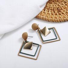 Women Statement Boho Geometric Ear Studs Big Dangle Drop-Triangle Earrings Ch UV