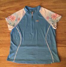 Louis Garneau Jersey Womens XXL Verano Blue Floral Micro Airdry NEW