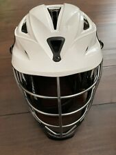 Cascade CPX-R White Lacrosse Helmet Black Chin Strap Adult Adjustable Size OSFM
