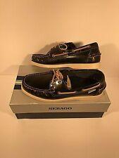 Sebago Mens Moccasin Deck Shoe Docksides Midnight Wheat Leather B12661 Free Ship