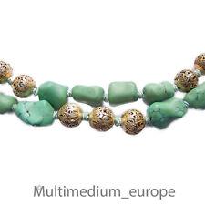 Türkis Halskette Silber Steinkette 30er 30s turquoise china necklace silver