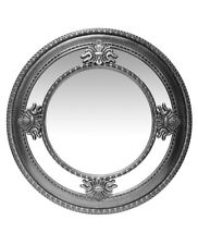 23 Inch Round Antique Silver Finish Wall Mirror Infinity Instruments 15454AS