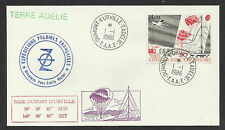 TAAF FRENCH ANTARCTIC 1986 SCIENTIFIC RESEARCH PARACHUTES 1v FDC