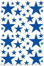 52 NAVY BLUE STARS VINYL BEDROOM WALL DECALS STICKERS Teen Girl Baby Nursery