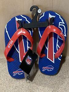 Buffalo Bills NFL Boys' Logo Flip-Flops Youth Small (11/12) - NWT