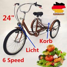 Für Erwachsene Dreirad Lastenfahrrad 6G Seniorenrad Shopping Fahrrad 24Zoll SALE