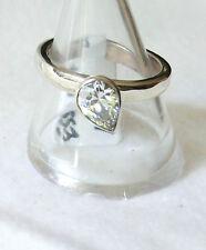 elegant Zirkonia Ring 925 Sterling Silber Brillant transparent Gr 57/18,1 mm Neu