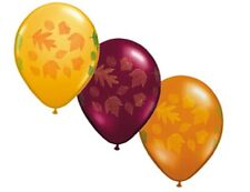 10 Autumn Leaf leaves Balloons as pictured Fall party Tree foliage decor Favors