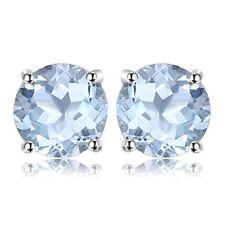 JewelryPalace Pendientes de Plata de Ley 925 Color Topazio Azul