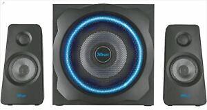 TRUST GXT 628 2.1 PC-Lautsprechersystem Fernbedienung 120 Watt Gesamtleistung