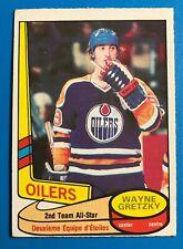 1980-81 O Pee Chee OPC Wayne Gretzky 2nd Year Card All Star Edmonton Oilers #87