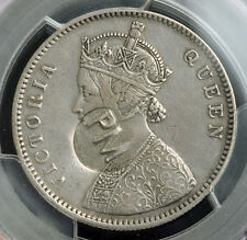 1889, Mozambique, Maria II. Scarce Countermarked Silver Rupee Coin. PCGS XF-45!