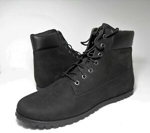 Timberland Womens Boots Joslin Ankle Boots Nubuck Leather Black Color US Sz 10M