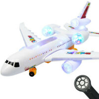 Remote Control Airplane Electric LED Light Music RC Plane Outdoor for Kids