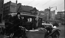8x10 Print Street Photography Auto People Baby Carriage Flappers 1920's #2016654
