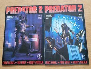 Predator 2 Comic Book, both books present.