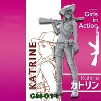 1/35(50mm) Resin Figure Modern Lady Gunner Unpainted Unassembled
