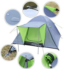 Waterproof 3-4 person double layer tent camping hiking travelling outdoor