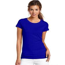 Camisas y tops de mujer de manga corta color principal azul 100% algodón