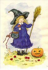 LITTLE WITCH WITH A SWEET TOOTH (HALOWEEN TIME) Modern Russian postcard