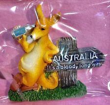 1 X Souvenir 3D Kangaroo Beer Australia It's Bloody Long Way Fridge Magnet