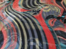 RAYON LYCRA 4W STRETCH ABSTRACT PRINT MULTI-COLORS