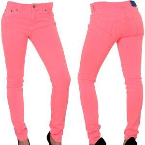 Adidas Originals Ladies Super Skinny Pink Jeans Jeggings Women Free Tracked Post