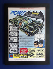 Corgi Toys 267 Batman Batmobile Vintage 1966 A3 Size Framed Poster Shop Sign