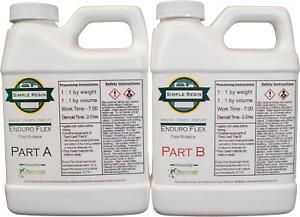 Enduro Flex - 2 Part Polyurethane Casting Resin - Firm Rubber Feel (80A(2lb kit)