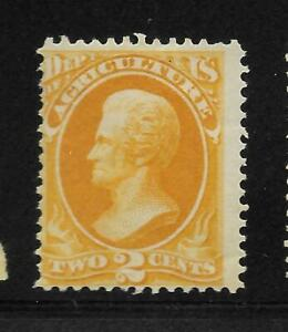 U.S - 1873-79 - Mint OG - 2c Agriculture  - Scott#:  O2