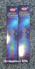 Hem Seven Chakras Incense 2 Boxes of 7 Pounches x 5 Stick, 70 Sticks - 7 Chakra
