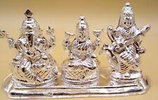 Puja Pooja 999 Fine Silver 16 Handmade Statue Of Laxmi Ganesha Saraswati Diwali