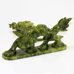 Chinesische Drachen-Figur (Long), Jadedrachen, Glücksdrache, Schutzdrache grün
