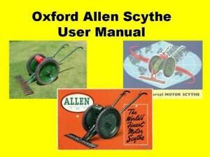 Oxford Allen Scythe User Manual CD Cutter Finger Bar Motorised Scythe Villiers